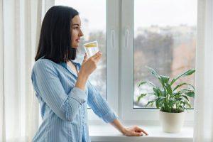 Tomar bebidas frías en invierno